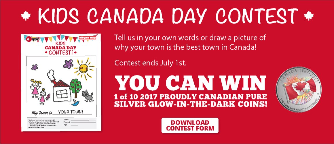 Kids Canada Day Contest