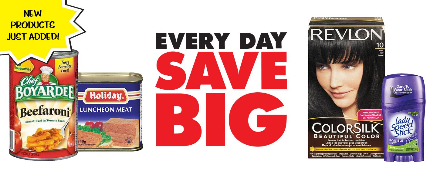 New Products Just Added! Every Day Save Big!
