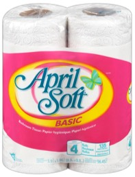 April Soft Bathroom Tissue